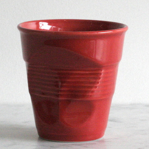 Revol Crumpled Cup- Red Porcelain