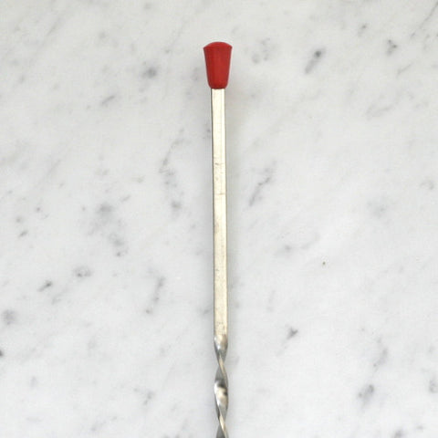 Tall Bar Spoon with Red Knob
