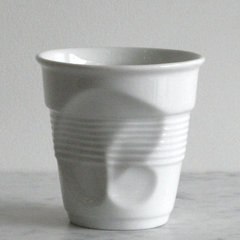 Revol Crumpled Cup-White Porcelain