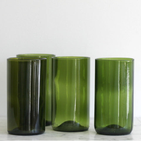 16oz Wine Punt Cocktail Glasses - Set of 4 Green