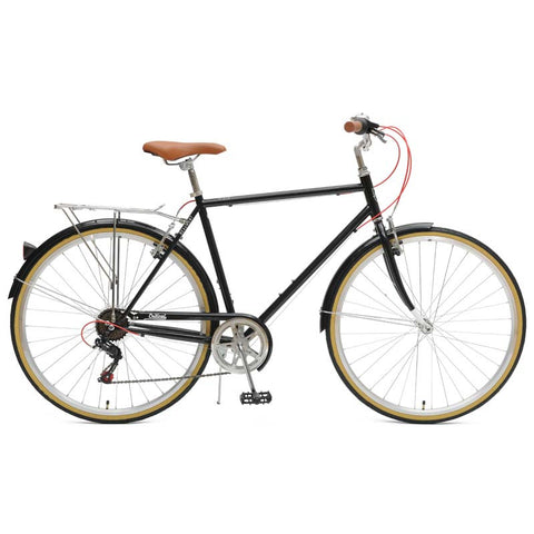 Critical Cycles - Beaumont 7-Speed Diamond City Bike Black / 50cm / s, Critical Cycles - 6