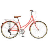 Critical Cycles - Beaumont 7-Speed Step-Thru City Bike Coral / Small / Medium 38cm, Critical Cycles - 7