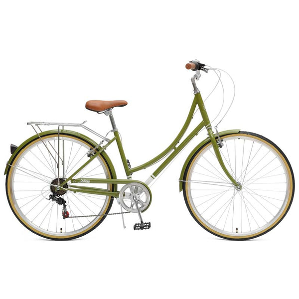 Critical Cycles - Beaumont 7-Speed Step-Thru City Bike Olive / Small / Medium 38cm, Critical Cycles - 11