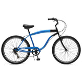 Critical Cycles - Chatham-7 Men's Beach Cruiser Bike Blue and Black, Critical Cycles - 5