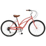 Critical Cycles - Chatham-7 Step-Thru Beach Cruiser Bike Coral, Critical Cycles - 5