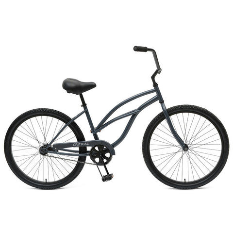 Critical Cycles - Step-Thru Single-Speed Beach Cruiser Bike Gunmetal, Critical Cycles - 5