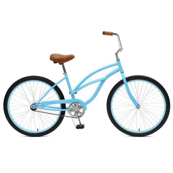 Critical Cycles - Step-Thru Single-Speed Beach Cruiser Bike Sky Blue, Critical Cycles - 3