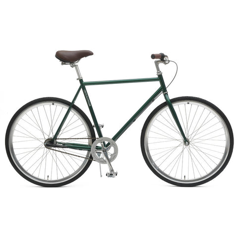 Critical Cycles - Diamond Frame Three-Speed Urban Coaster Bike British Racing Green / Small 49cm, Critical Cycles - 1