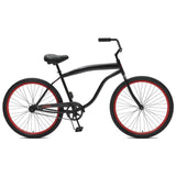 Critical Cycles - Chatham-1 Men's Single-Speed Beach Cruiser Bike Black and Red, Critical Cycles - 3