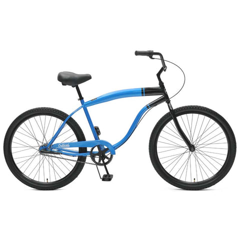Critical Cycles - Chatham-3 Men's Beach Cruiser Bike Blue and Black, Critical Cycles - 1