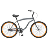 Critical Cycles - Chatham-3 Men's Beach Cruiser Bike Graphite and Orange, Critical Cycles - 5