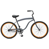 Critical Cycles - Chatham-1 Men's Single-Speed Beach Cruiser Bike Graphite and Orange, Critical Cycles - 7