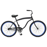 Critical Cycles - Chatham-1 Men's Single-Speed Beach Cruiser Bike Matte Black and Deep Blue, Critical Cycles - 11