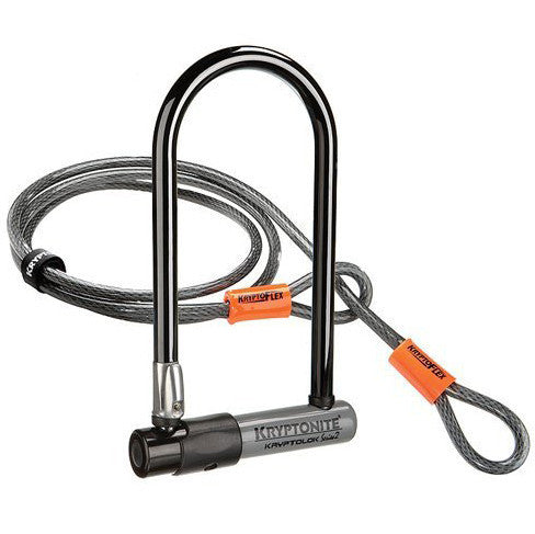 Kryptonite - Kryptonite Bike Lock KryptoLok Series 2 Standard with 4' Flex , Critical Cycles