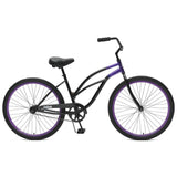 Critical Cycles - Chatham-1 Step-Thru Single-Speed Beach Cruiser Bike Black and Purple, Critical Cycles - 9