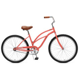 Critical Cycles - Chatham-1 Step-Thru Single-Speed Beach Cruiser Bike Coral, Critical Cycles - 5