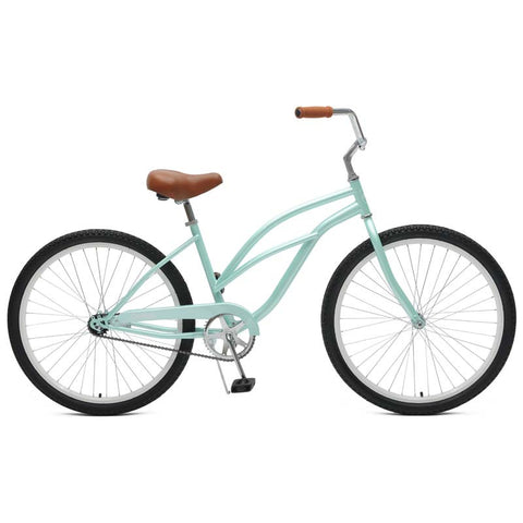 Critical Cycles - Chatham-1 Step-Thru Single-Speed Beach Cruiser Bike Seafoam, Critical Cycles - 1