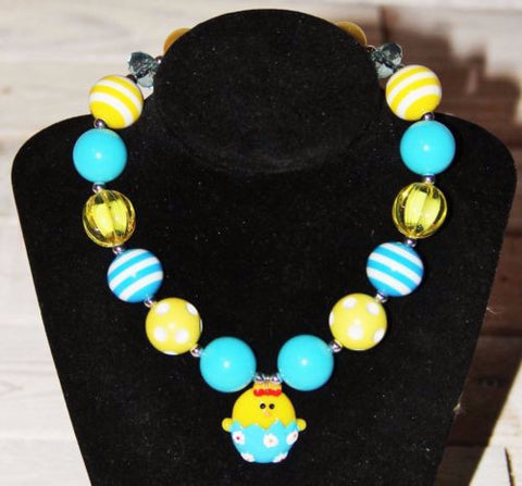 Easter Chick Bubblegum Necklace-Jewelry-CKCC-Cute Kids Clothing