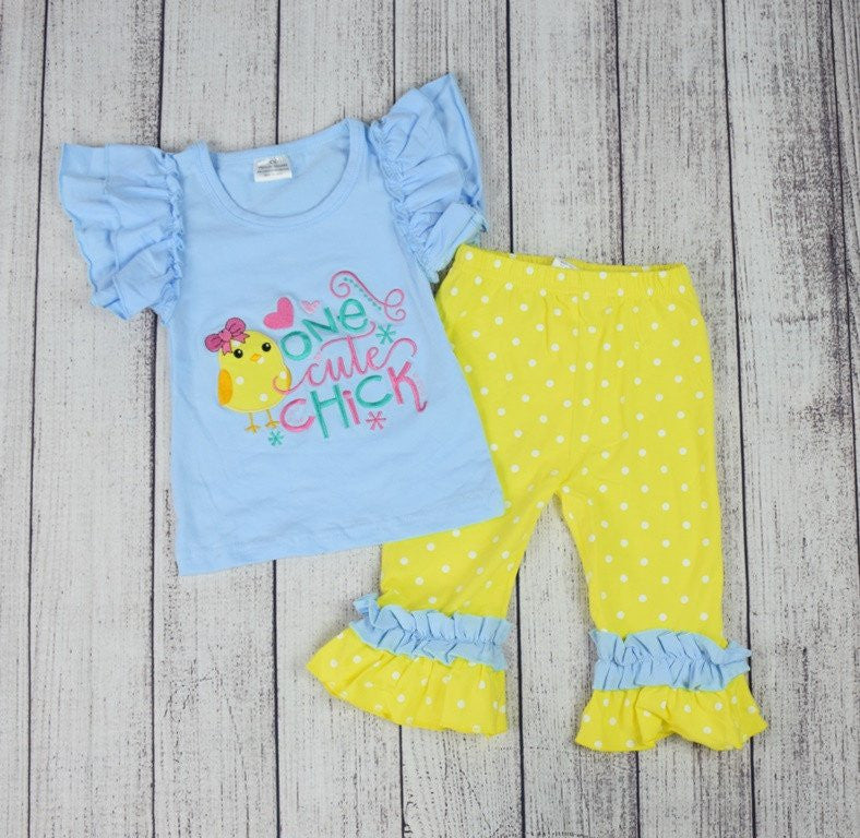 One Cute Chick Easter Outfit-Outfits & Sets-CKCC-Cute Kids Clothing