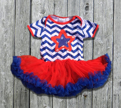 July 4th Tutu Onesie-Tutu Onesie-CKCC-Cute Kids Clothing