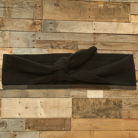 Black Knotted Headband-Headband-CKCC-Cute Kids Clothing