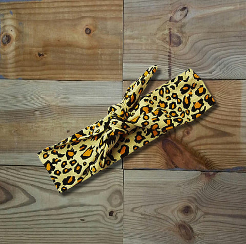 Cheetah Knotted Headband-Headband-CKCC-Cute Kids Clothing