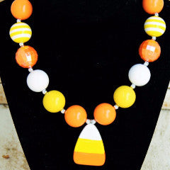 Candy Corn Necklace-Necklaces & Pendants-CKCC-Cute Kids Clothing