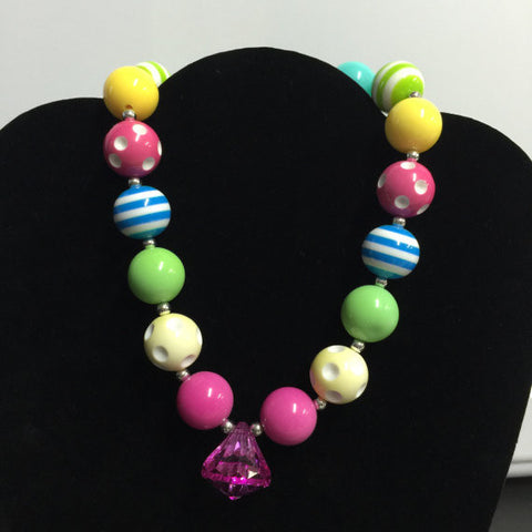 Rainbow Chunky Necklace-Necklaces & Pendants-CKCC-Cute Kids Clothing