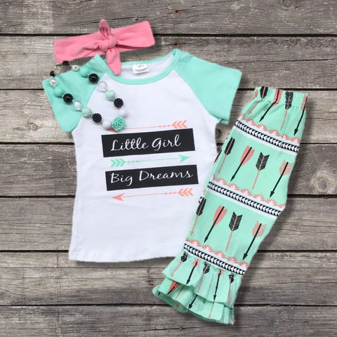 """Little Girl Big Dreams"" Boutique Outfit-Outfits & Sets-CKCC-Cute Kids Clothing"
