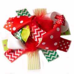"Christmas 6"" Korker Hair Bow-Hair Accessories-CKCC-Cute Kids Clothing"