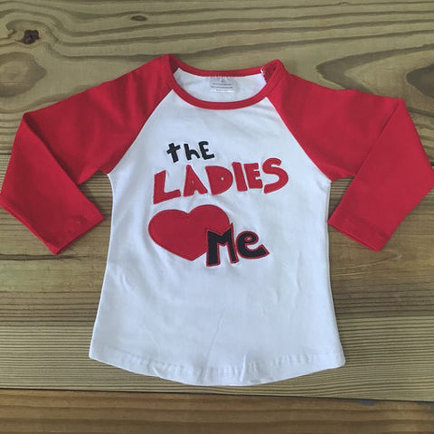 """The Ladies Love Me"" Boy's Baseball T-Shirt-T-Shirt-CKCC-Cute Kids Clothing"