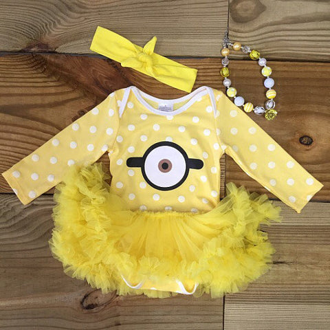 Stuart The Minion Tutu Onesie-Tutu Onesie-CKCC-Cute Kids Clothing