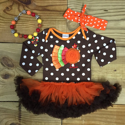Polka Dot Turkey Tutu Bodysuit-Onesie-CKCC-Cute Kids Clothing