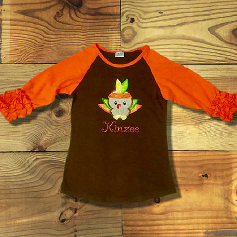 Brown & Orange Icing Raglan T-Shirt-Outfits & Sets-CKCC-Cute Kids Clothing