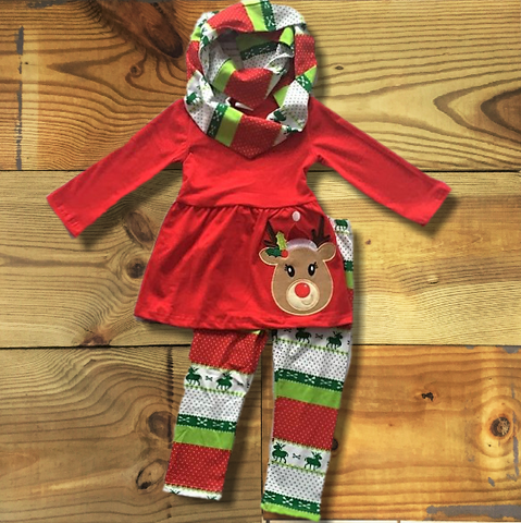 Aztec Reindeer Scarf Outfit-Outfits & Sets-Cute Kids Clothing Company-Cute Kids Clothing