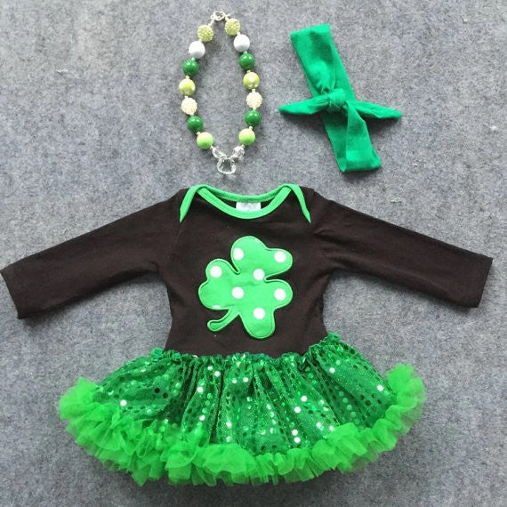 3beacccf52c7 Shamrock Boutique Onesie With Sequin Tutu – Cute Kids Clothing Company