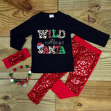 Wild About Santa Christmas Outfit-Outfits & Sets-CKCC-Cute Kids Clothing