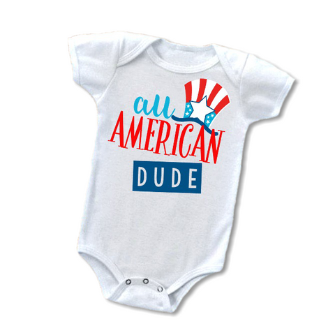 """All American Dude"" Baby Outfit"
