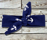 SALE!! Yellow & Navy Anchor Capri Outfit-Outfits & Sets-CKCC-Cute Kids Clothing