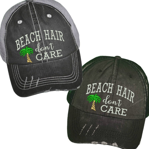 """Beach Hair Don't Care"" Trucker Hat"