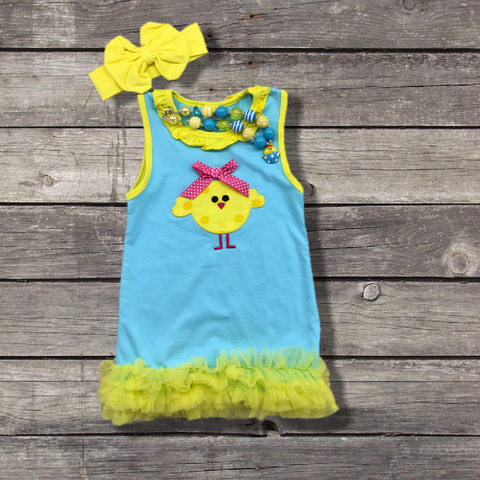 Easter Chick Boutique Dress-Dresses-CKCC-Cute Kids Clothing