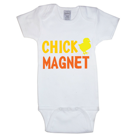 """Chick Magnet"" Baby Girl Outfit"