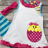 Easter Chick Capri Outfit-Outfits & Sets-CKCC-Cute Kids Clothing