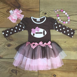 Football Dress with Chiffon Ruffles-Dresses-CKCC-Cute Kids Clothing