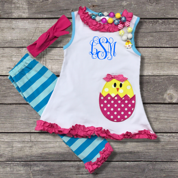 Easter Chick N Egg Outfit-Outfits & Sets-CKCC-Cute Kids Clothing