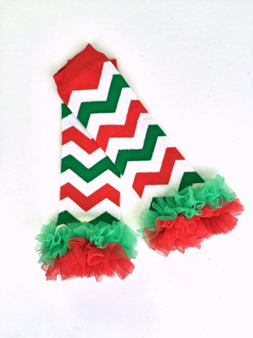 Chevron Ruffled Leg Warmers-Leg Warmers-CKCC-Cute Kids Clothing