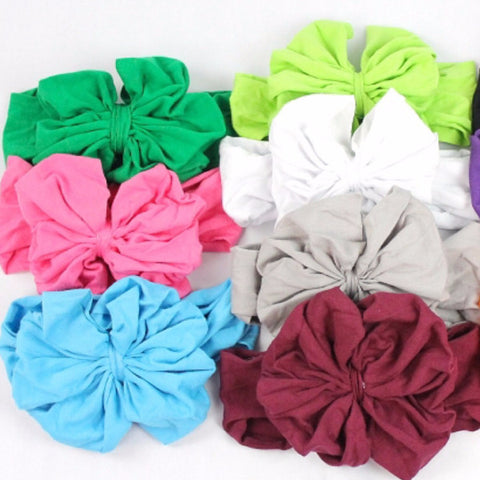 Cotton Big Bow Headbands-Headband-CKCC-Cute Kids Clothing