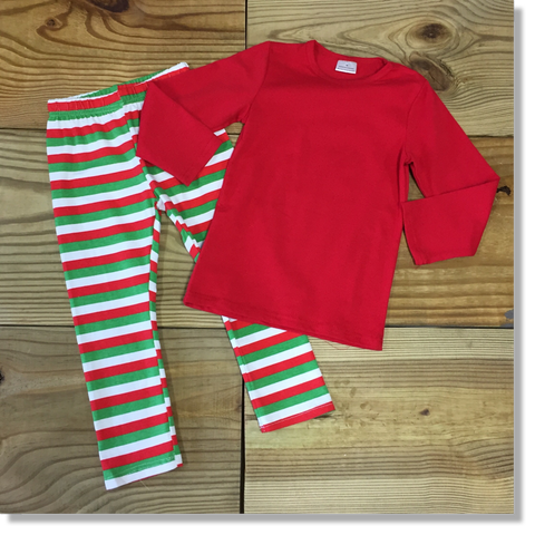 Children's Red Holiday Christmas Pajamas-Pajamas-CKCC-Cute Kids Clothing