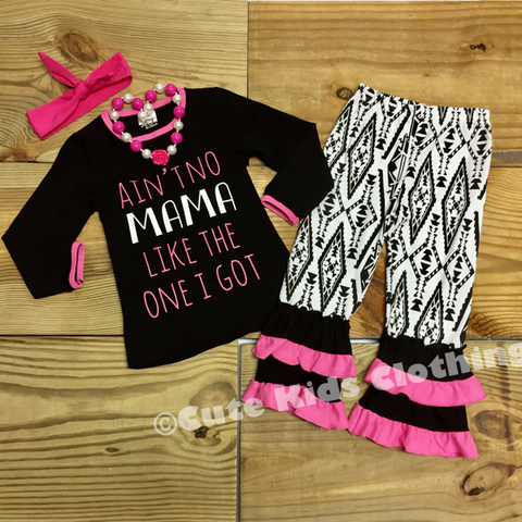 """Ain't No Mama Like The One I Got"" Outfit-Girl Outfit-CKCC-Cute Kids Clothing"