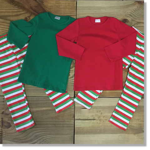 Children's Green Christmas Pajamas-Pajamas-CKCC-Cute Kids Clothing